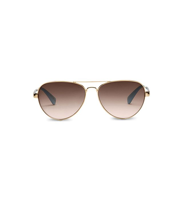 Toms Maverick Shiny Gold Whiskey Tortoise Sunglasses