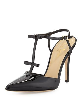 Kate Spade New York Laurelei Patent T-Strap Pumps