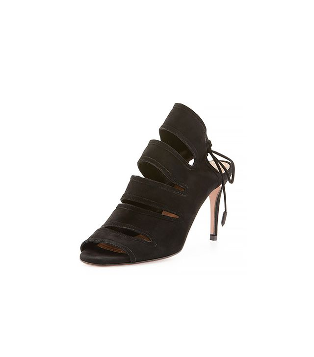 Aquazzura Sloan Suede Tie-Back Sandals