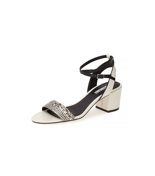 Charles David Midas Genuine Snakeskin & Leather Sandals