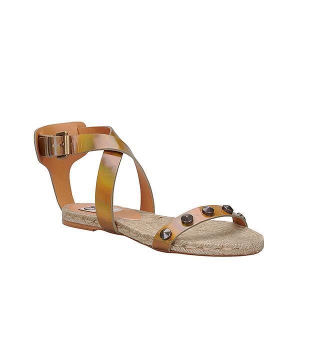 Lanvin Studded Iridescent Espadrille Sandals