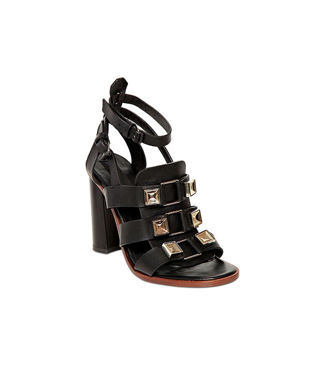 Proenza Schouler Nappa Leather Studded Sandals