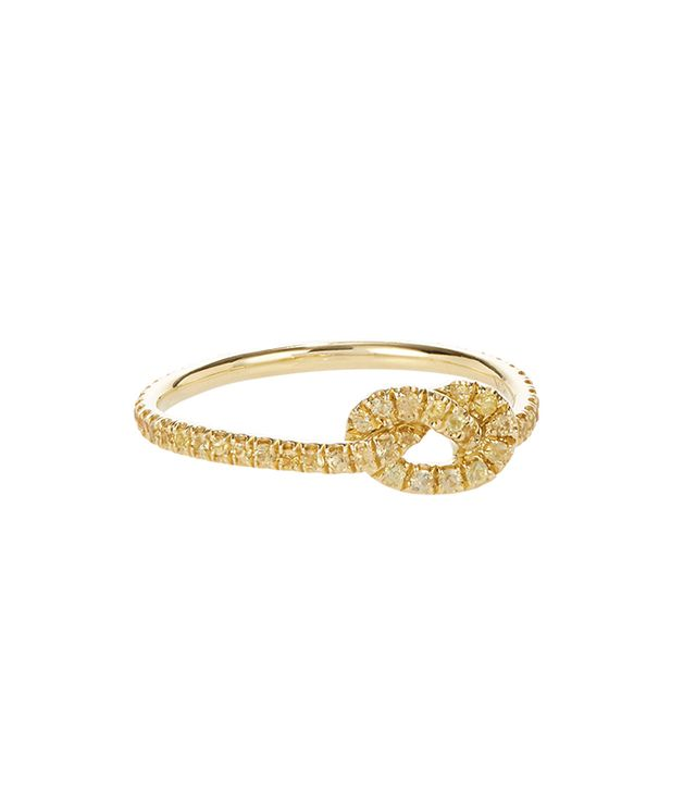 Fin Yellow Sapphire & Gold Love Knot Ring