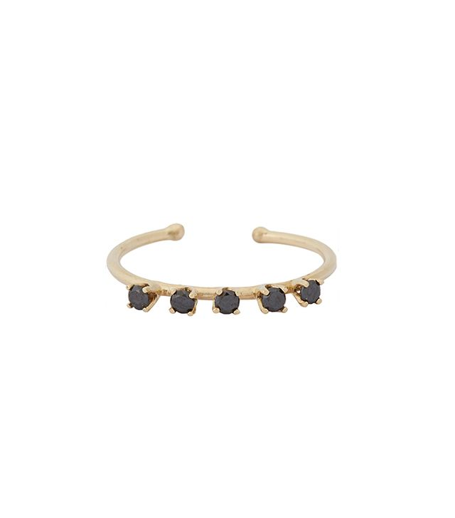 Loren Stewart Black Diamond & Gold Ring