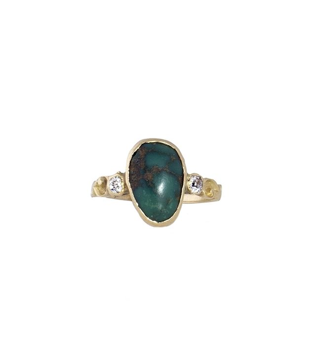 The One I Love The Turquoise And Diamond Love Stoned Ring