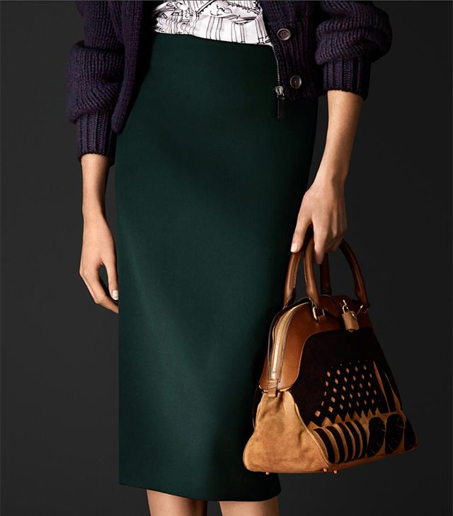 Burberry Stretch Virgin Wool Pencil Skirt