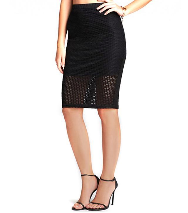 Lucy Paris Fishnet Pencil Skirt