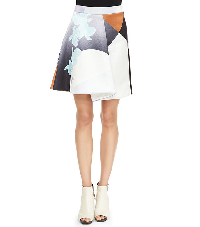 Phillip Lim Rounded Folded Floral Skirt