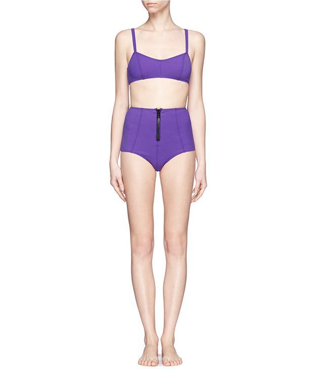 Lisa Marie Fernandez Genevieve Zip High-Waisted Bikini Set
