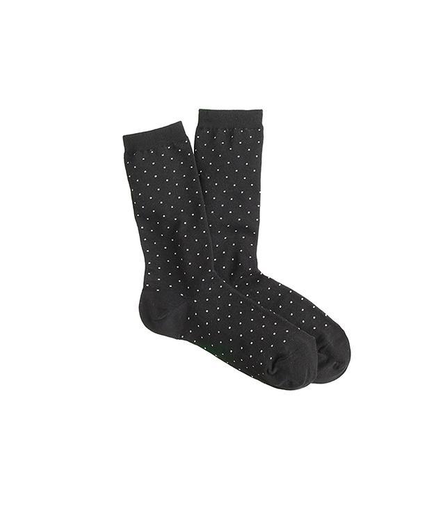 J.Crew Tiny Dot Socks