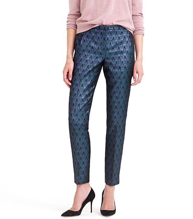 J.Crew Collection Cigarette Pants In Metallic Jacquard