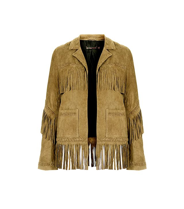 Kate Moss For Topshop Fringe Suede Jacket