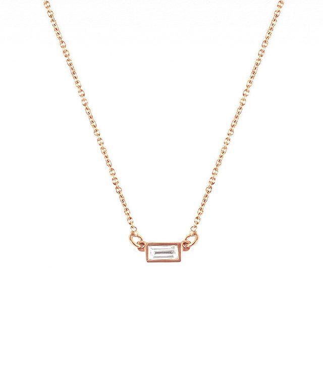 Vrai & Oro Baguette Diamond Necklace