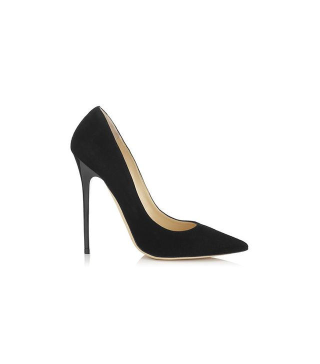 Jimmy Choo Black Suede Pointy Toe Pumps