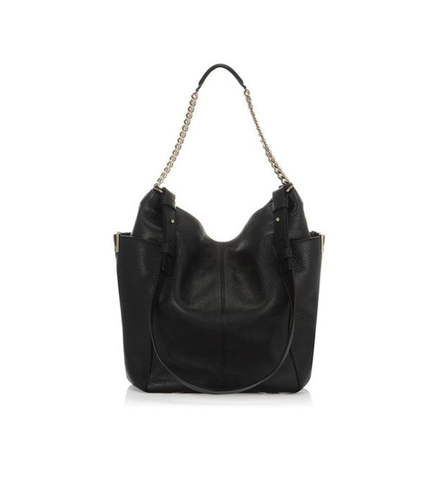 JImmy Choo Black Soft Calf Leather Shoulder Bag