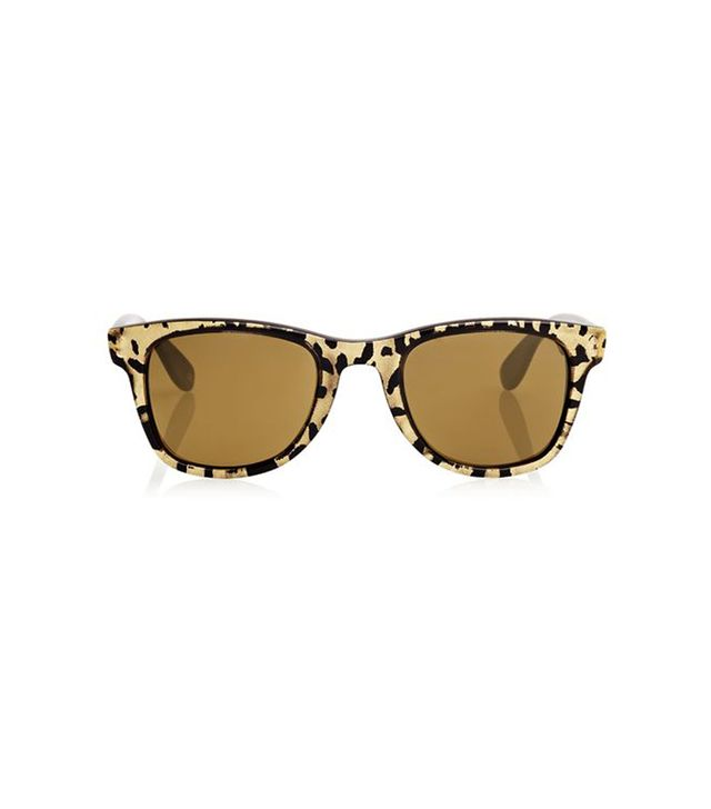 JImmy Choo Leopard Print Carrera 6000 Sunglasses