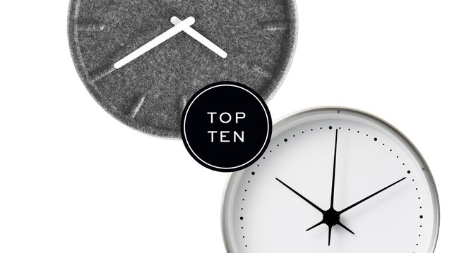 Top 10: Wall Clocks