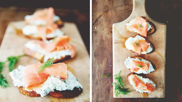 Recipe of the Week: <br>Ricotta Salmon Crostini<br/>