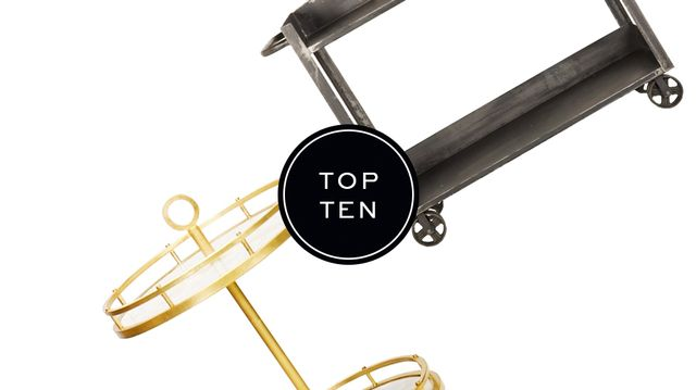 Top 10: Bar Carts