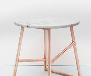 Copper & Marble Algedi Table