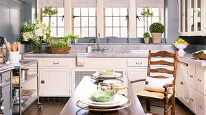 Before and After: A Julia Child-Inspired Slipcovered Kitchen