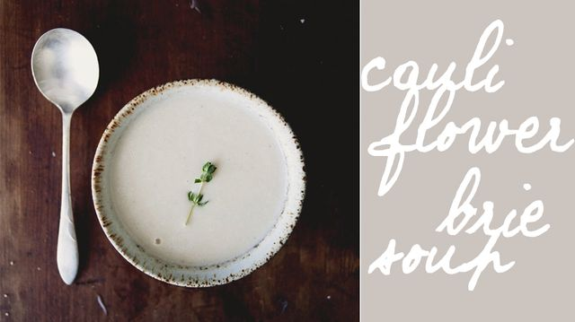 Cauliflower Brie Soup