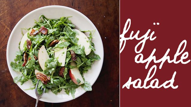 Fuji Apple Salad with Bacon, Pecans, and Maple Yogurt Dressing