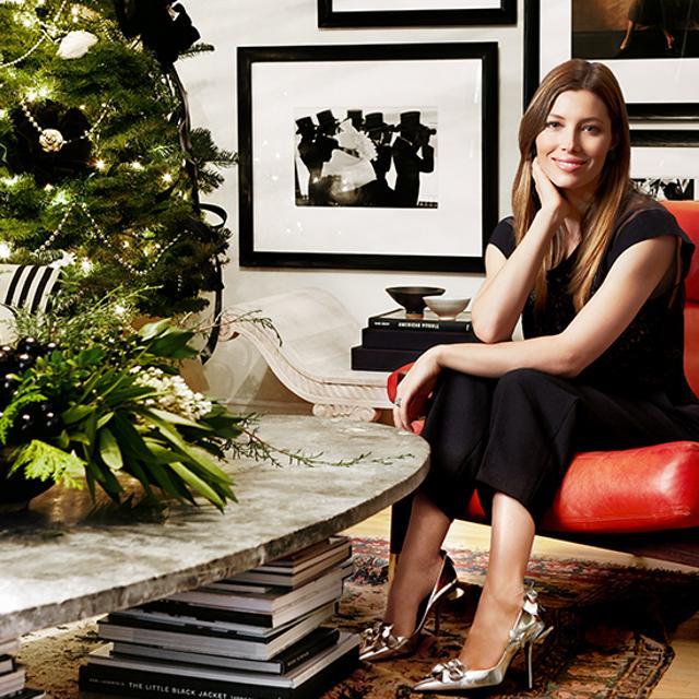 Jessica Biel Designs a Holiday Dream Room