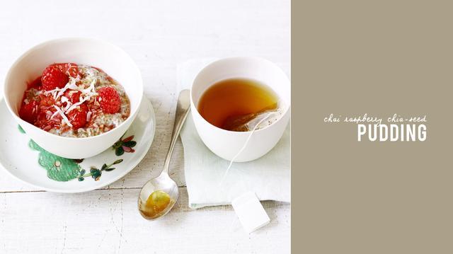 Chai Raspberry Chia-Seed Pudding