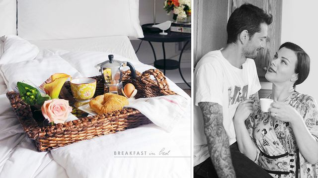 How Debi Mazar and Gabriele Corcos Do Breakfast in Bed