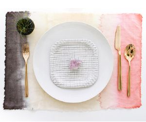 DIY to Try: Dip-Dye Placemats