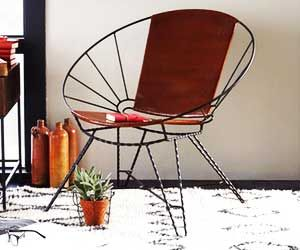 The Coolest Leather (and Wire) Chair