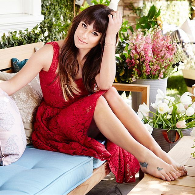 Exclusive: Lea Michele's Inspiring Backyard Transformation