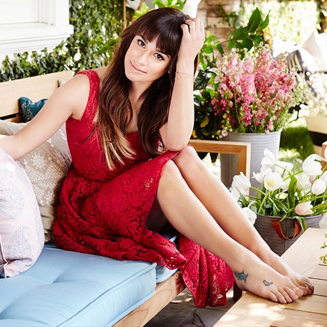 Exclusive: Lea Michele's Inspiring Backyard Transformation