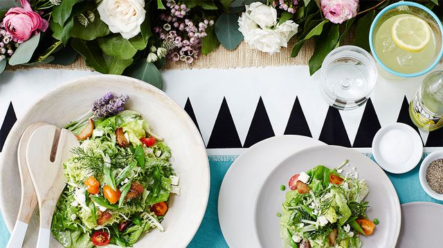 Bibb Lettuce with Roasted Garlic and Black Pepper Buttermilk Dressing