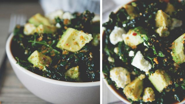 Spicy Kale Salad With Harissa Vinaigrette