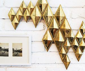 Why We Love It: Brassy Wall Art