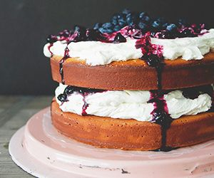 Mouthwatering Orange Blueberry Cake